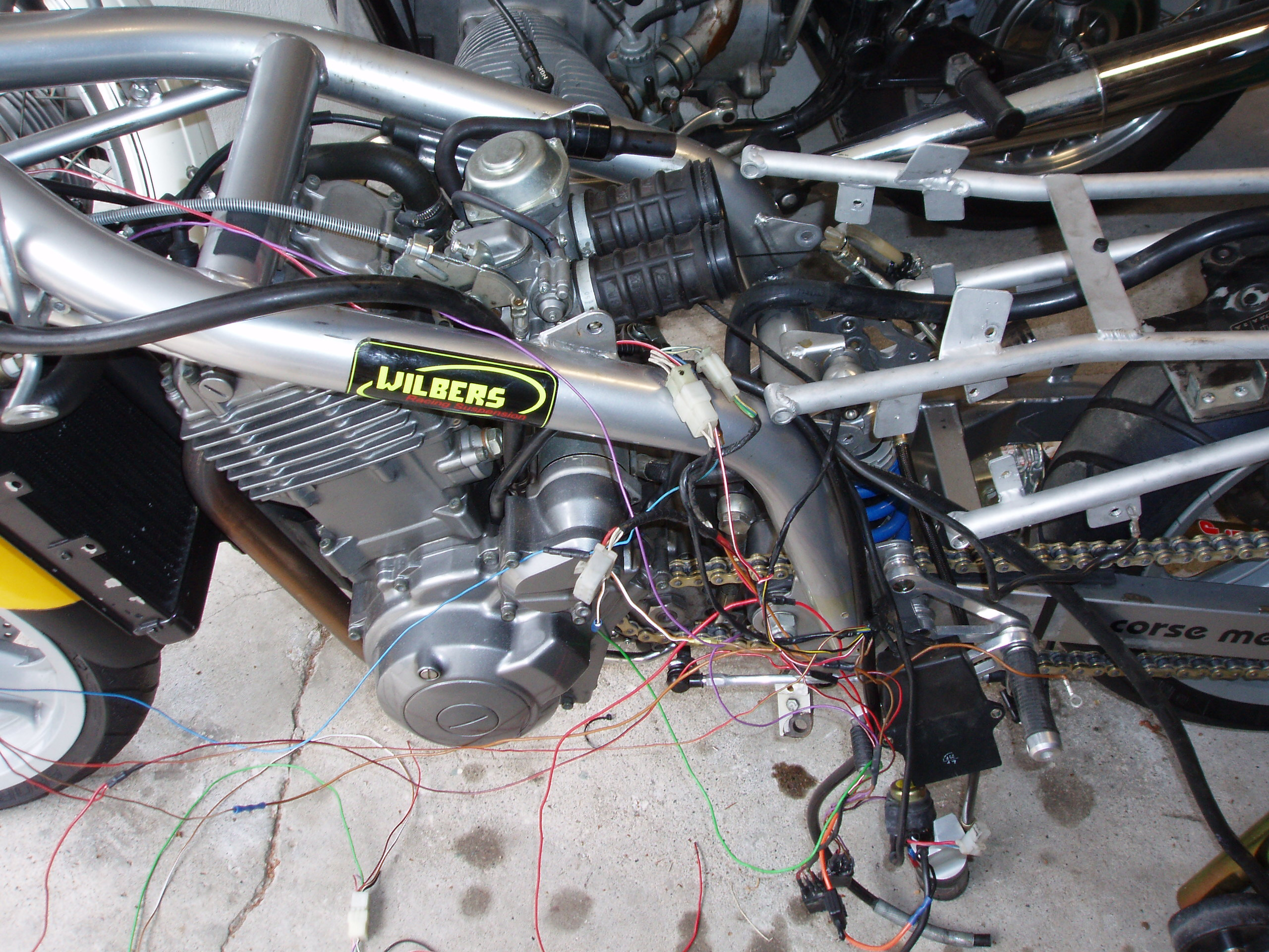 Changing Out The Subframes Turned Into A Big Hairy Project All Motorcycle Wiring Looms Electrics Needed